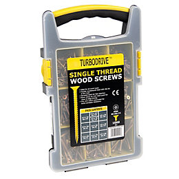 Turbodrive Single Thread Woodscrews Pack