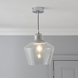 Jidda Clear Pendant Ceiling Light - Large