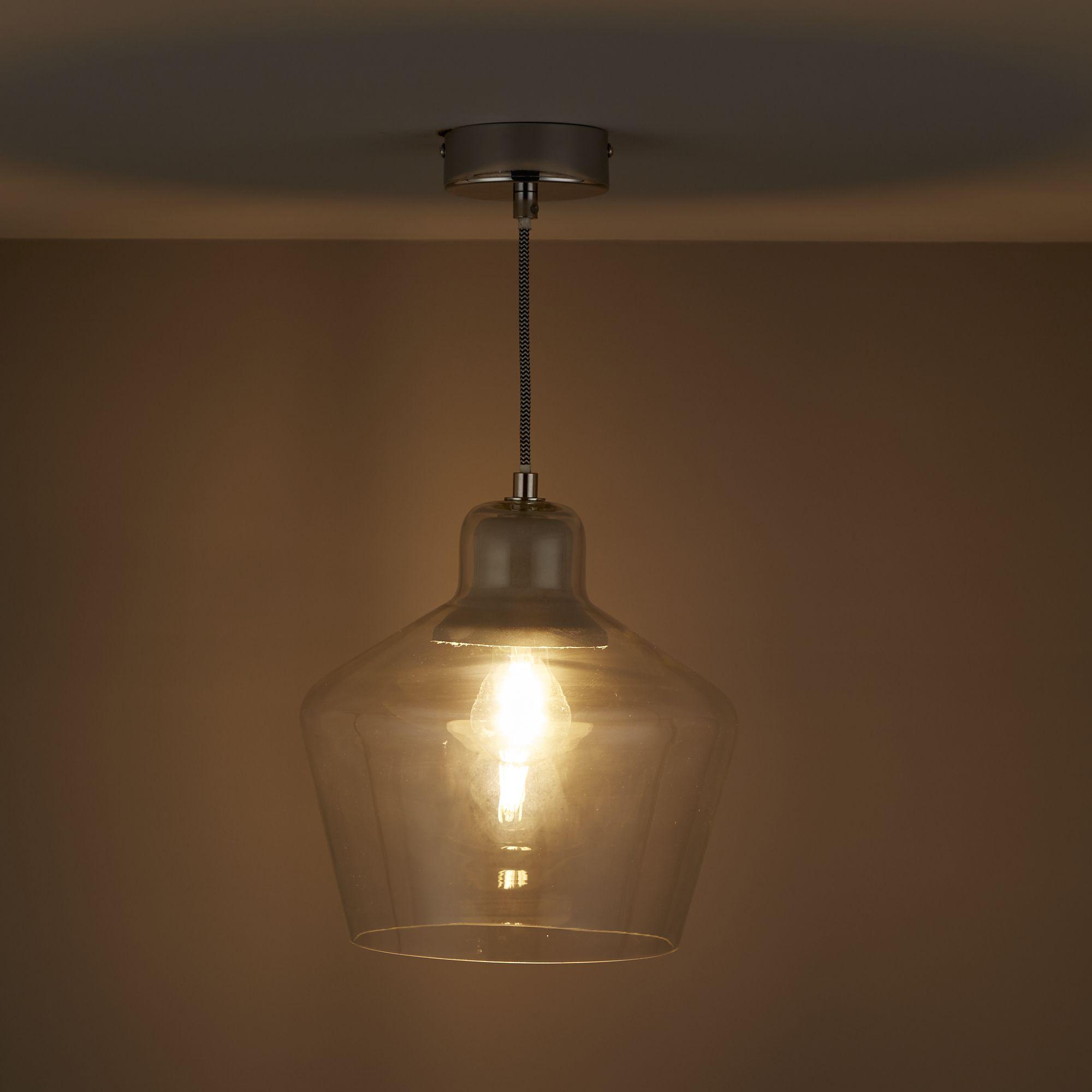 Jidda Clear Pendant Ceiling Light - Large