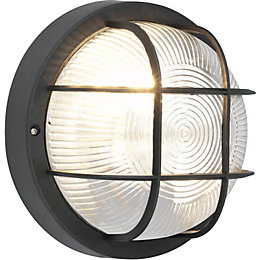 Blooma Thetis Black Mains Powered External Wall Light