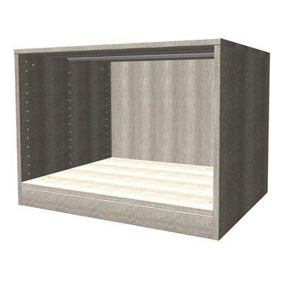 Darwin Modular Grey Oak Effect Bedside Cabinet (h)546mm (w)750mm (d)566mm