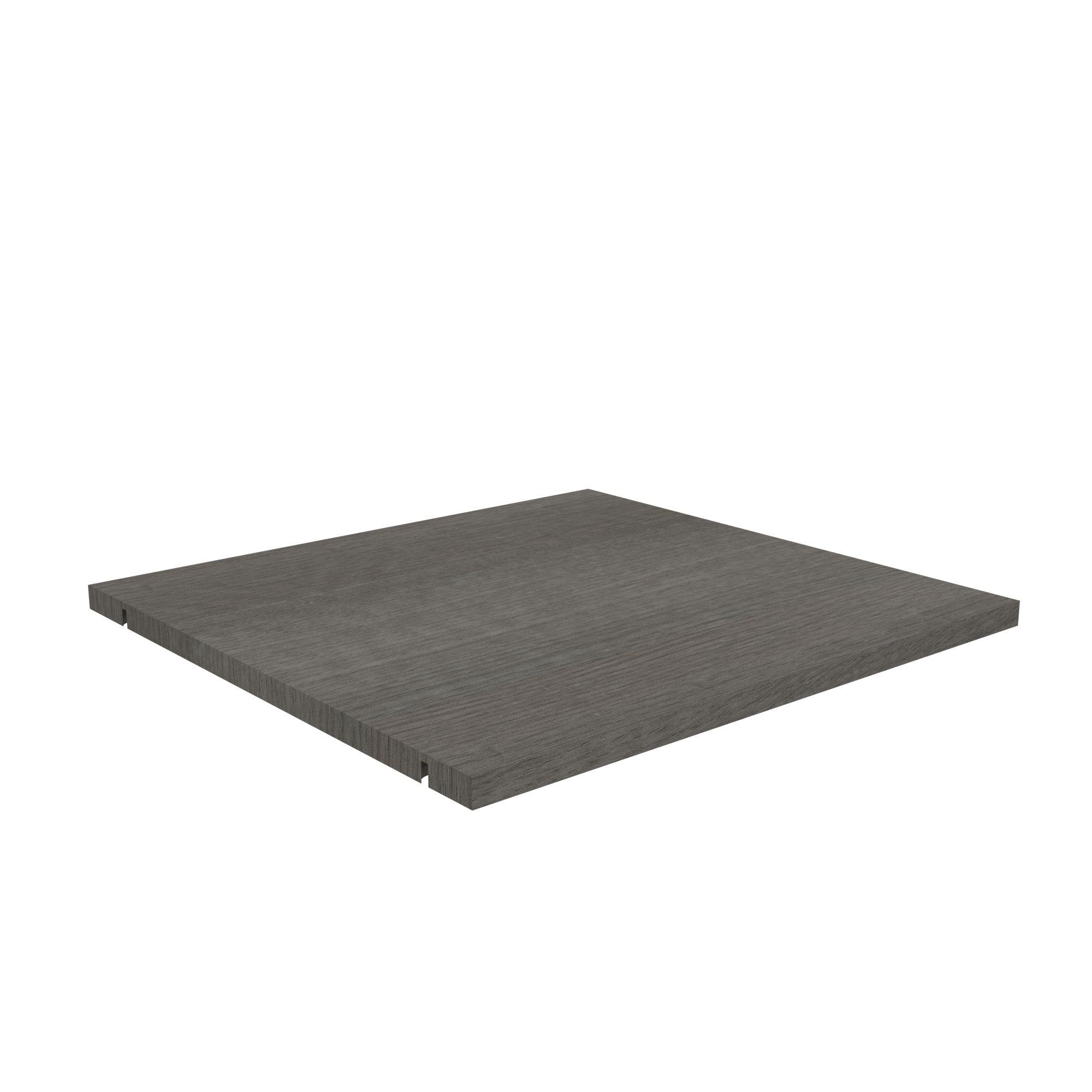 Perkin Grey Shelf (l)365.5mm (d)450mm, Pack Of 2