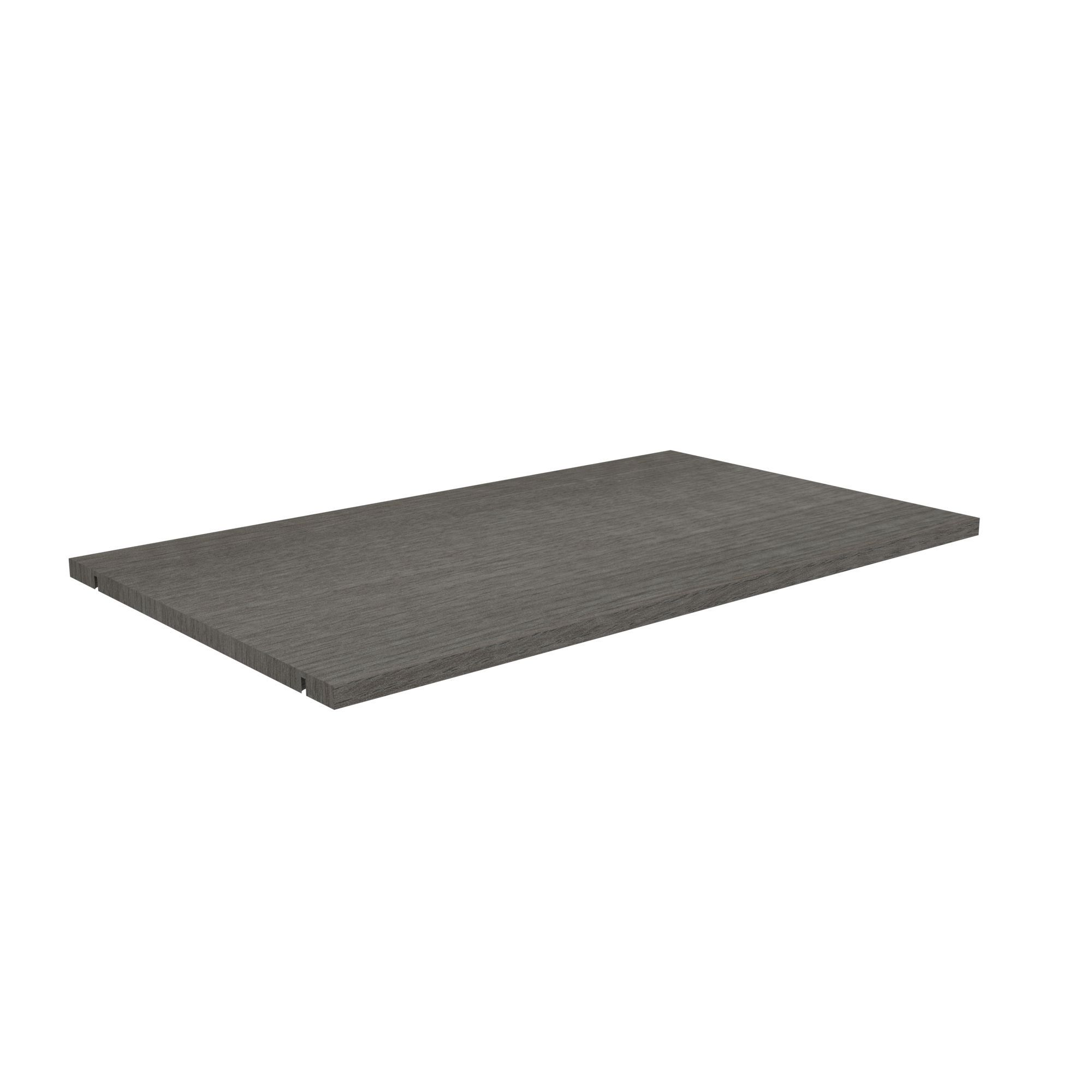 Perkin Grey Shelf (l)765.5mm (d)450mm, Pack Of 2
