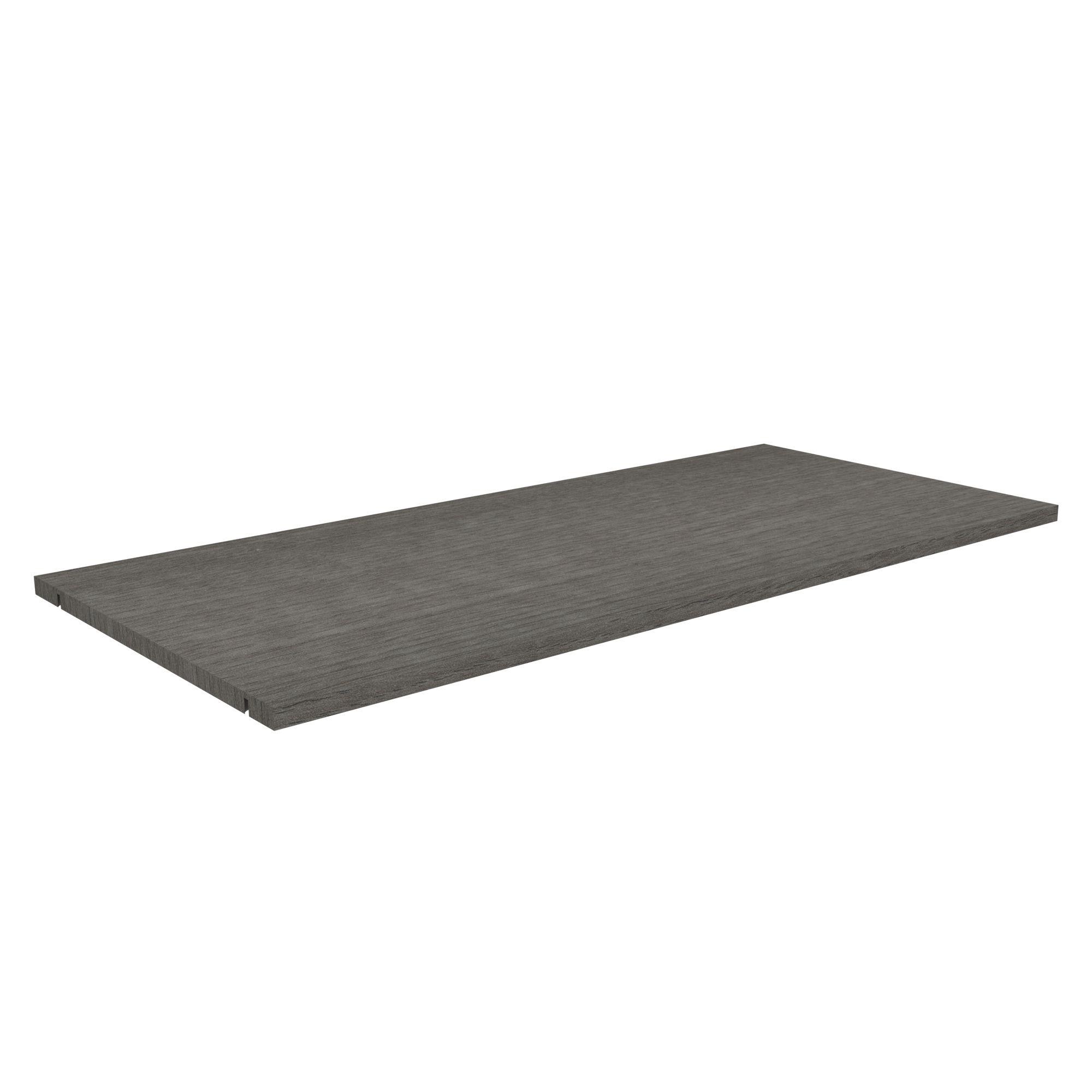 Perkin Grey Shelf (l)965.5mm (d)450mm, Pack Of 2