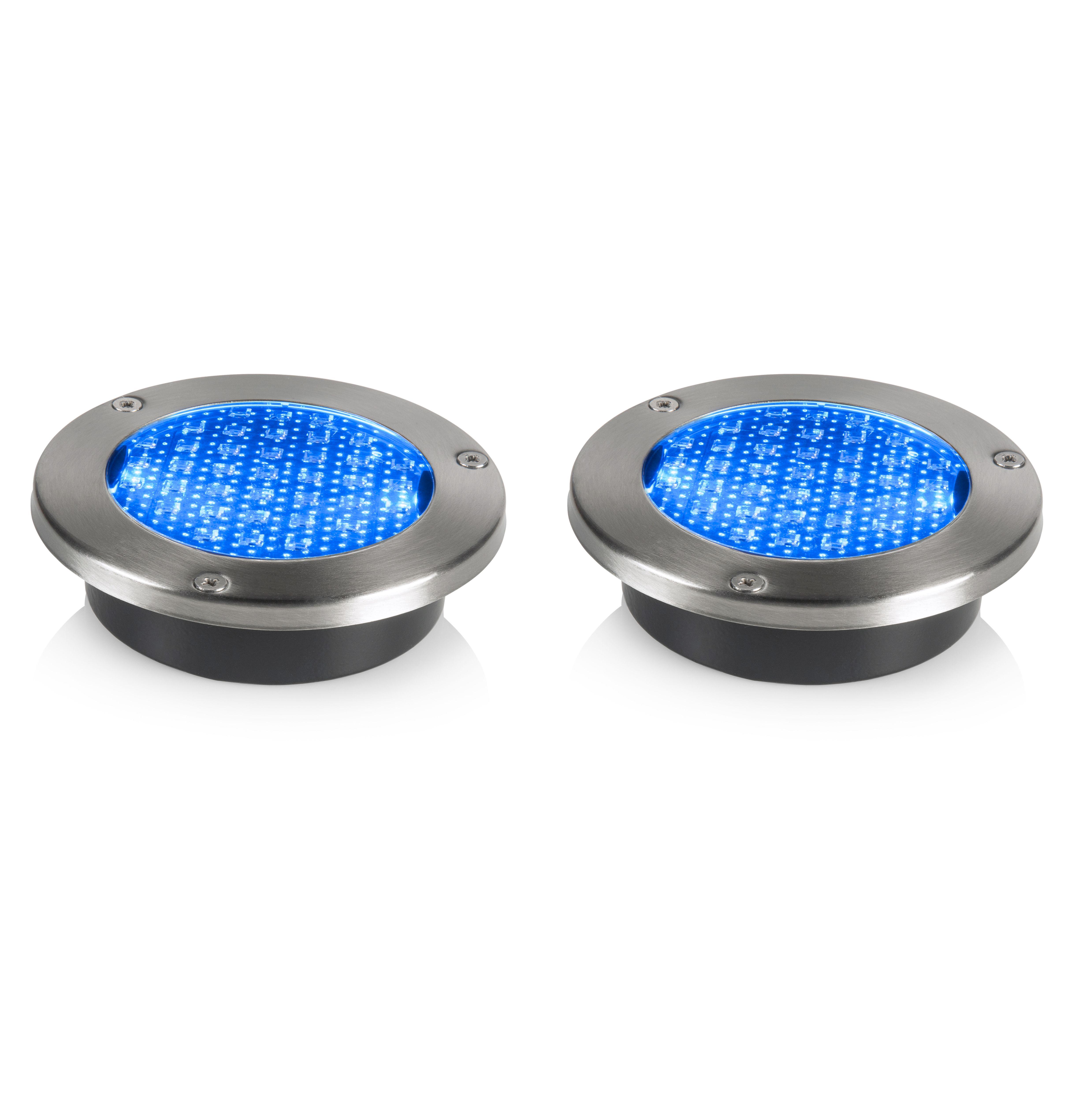 Solar Lights B Q: Blooma Lelantos Blue LED Solar Deck Light, Pack Of 2