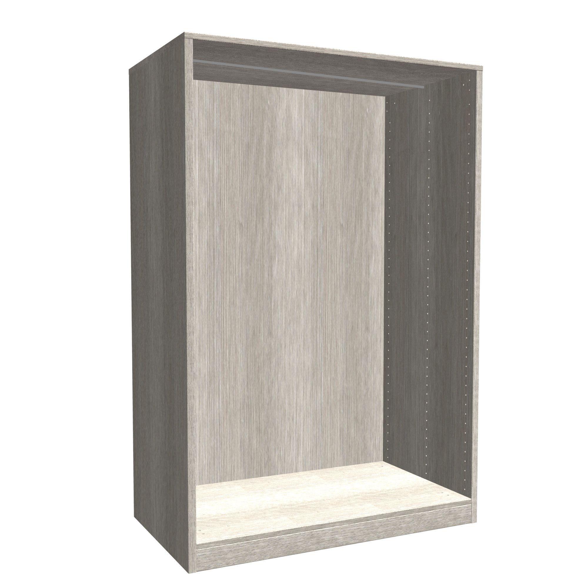 Darwin Modular Grey & Oak Effect Large Cabinet (h)1506mm (w)1000mm (d)566mm