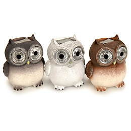 Blooma Brown, Grey or White Owlet Solar Powered