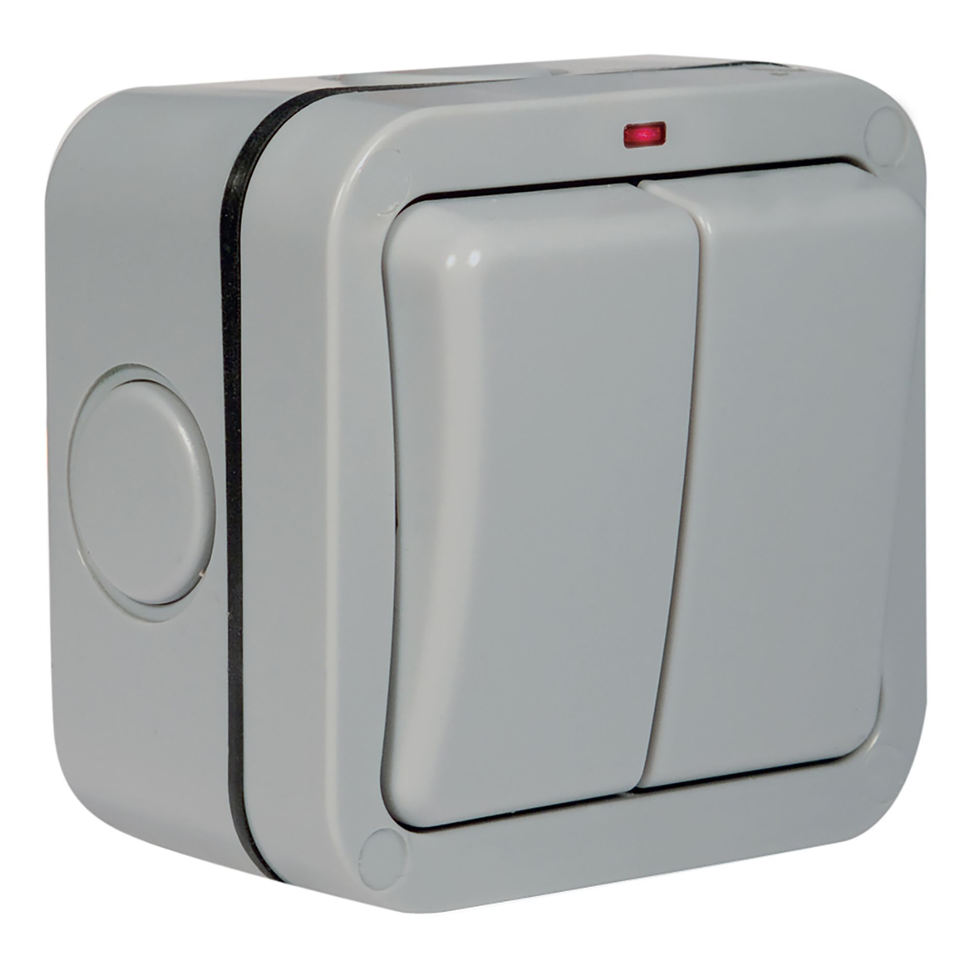Diall 13A Double Grey Outdoor Switch