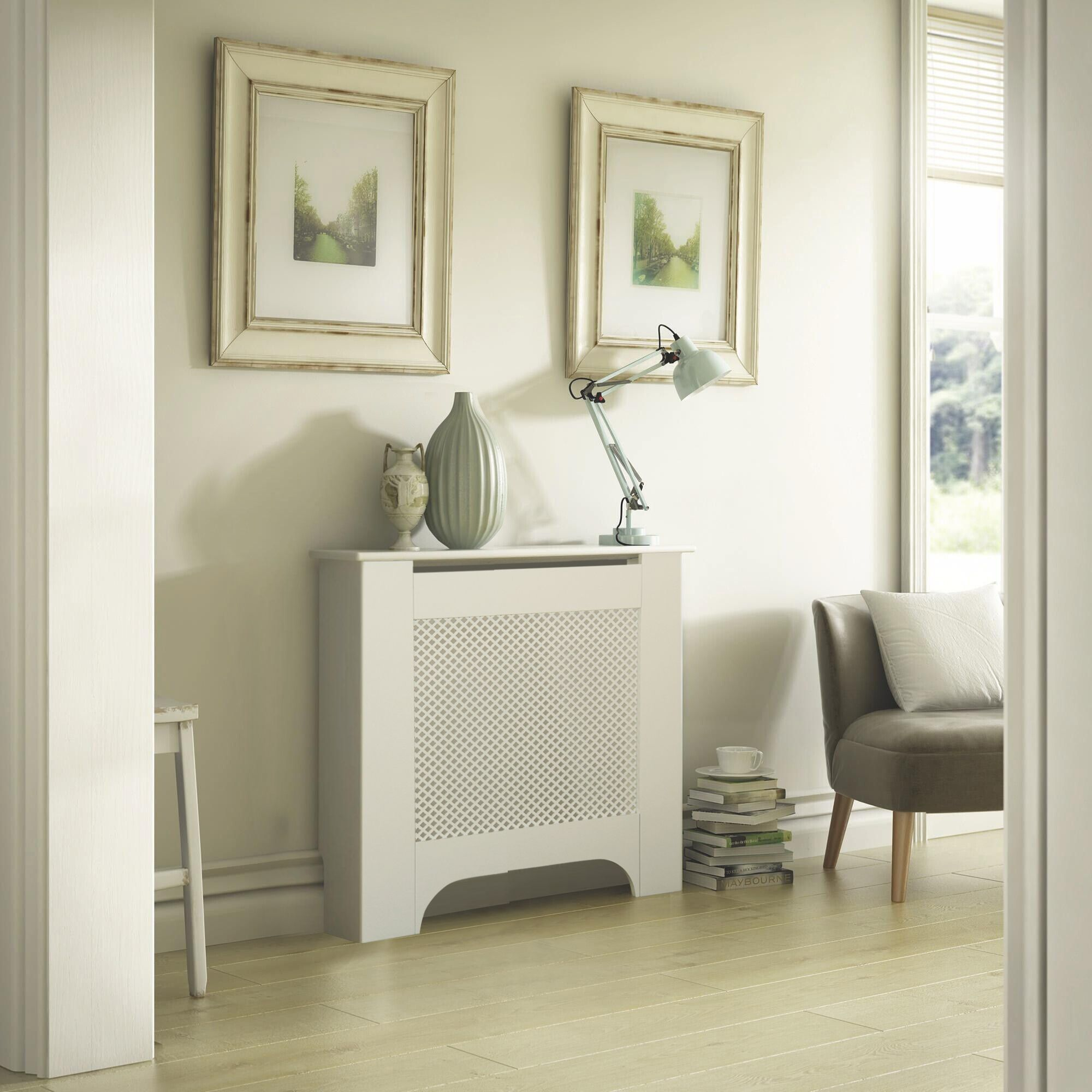 Bathroom Cabinets Uk Bq Mayfair Mini White Painted Radiator Cover Departments Diy At Bq