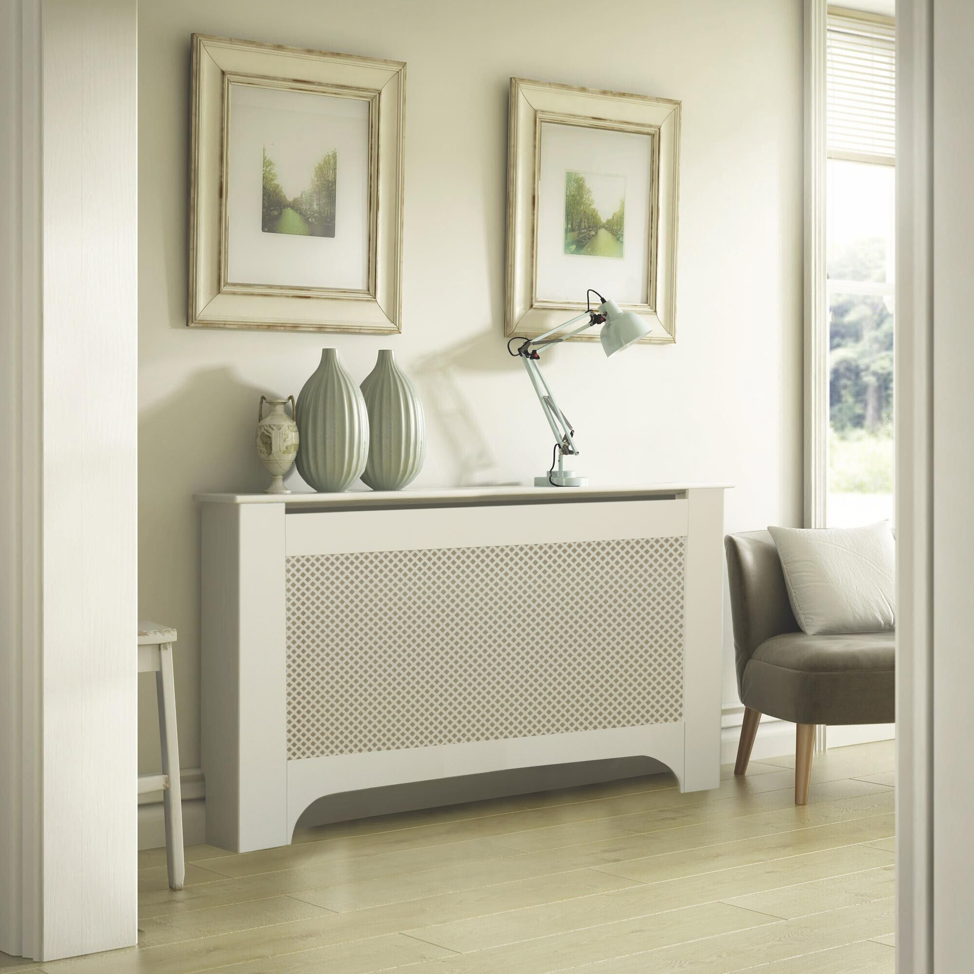 Mayfair Large White Painted Radiator Cover Departments