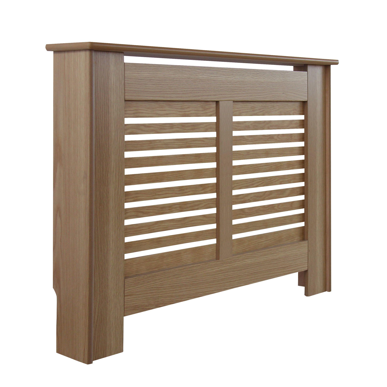 new suffolk small oak veneer radiator cover departments. Black Bedroom Furniture Sets. Home Design Ideas
