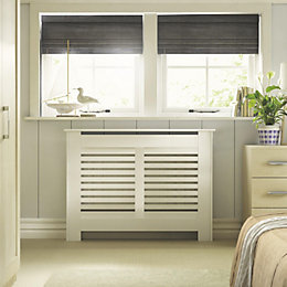 New Suffolk Small White Painted Radiator Cover
