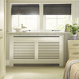 New Suffolk Large White Painted Radiator Cover