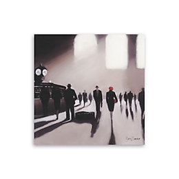 Grand Central Station Rendezvous Mono Canvas Art (W)90cm