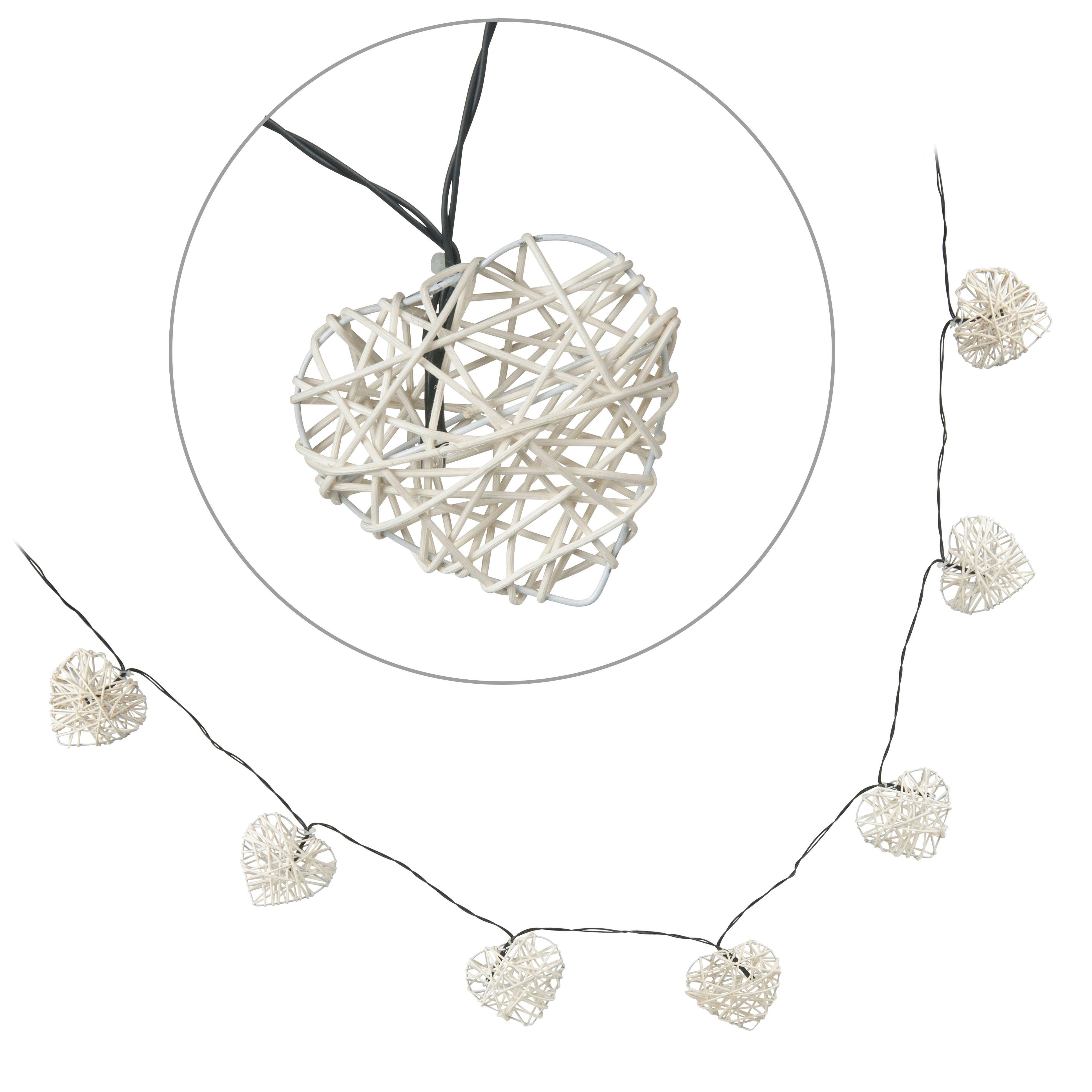 Blooma Valenti Battery Powered LED Heart String Lights Departments DIY at B&Q