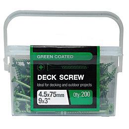 B&Q Steel Deck Screw (Dia)4.5mm (L)75mm, Pack of
