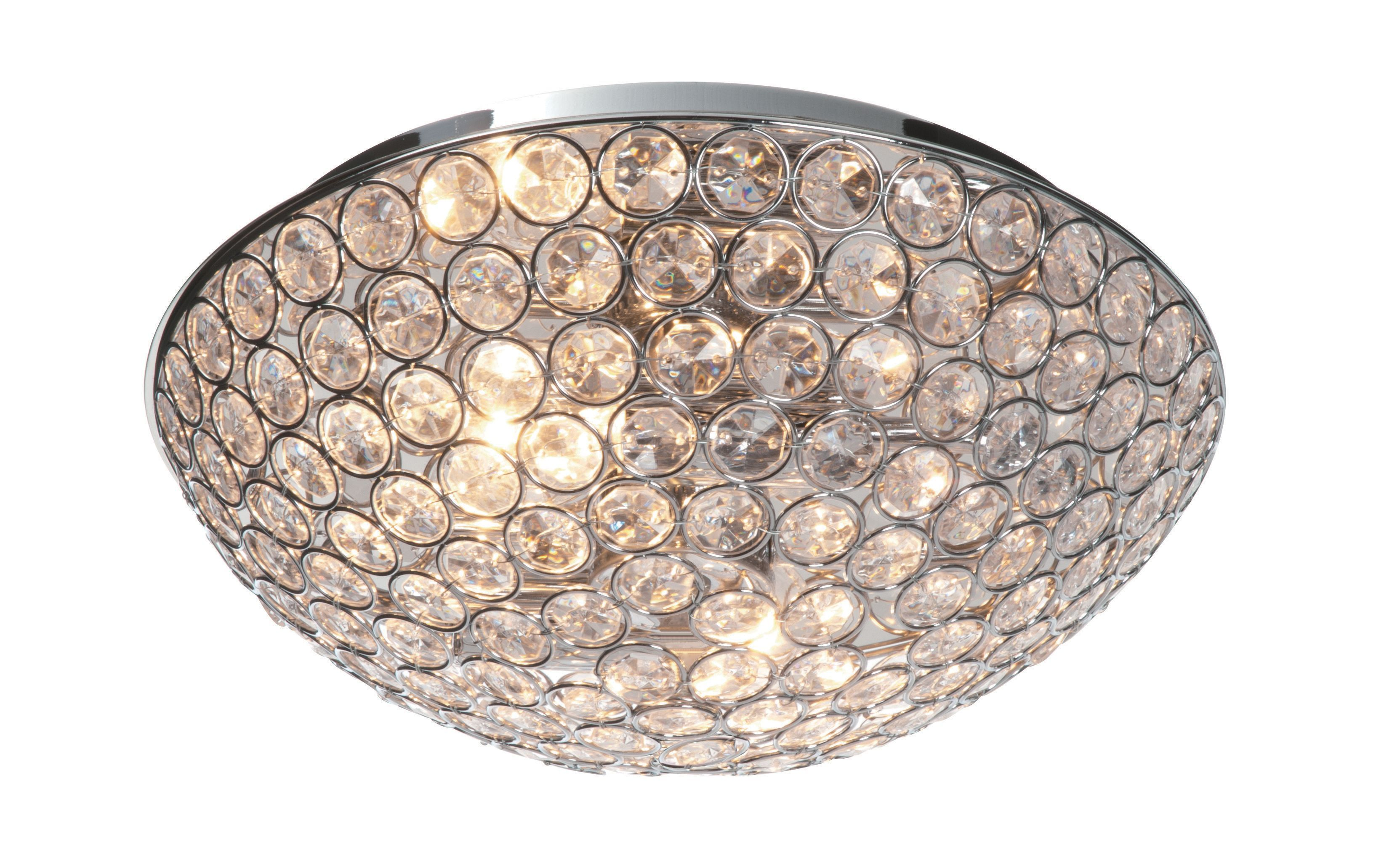 B And Q Lighting Ceiling: Lopez Crystal Circle Chrome Effect 2 Lamp Ceiling Light | Departments | DIY  at B&Q,Lighting