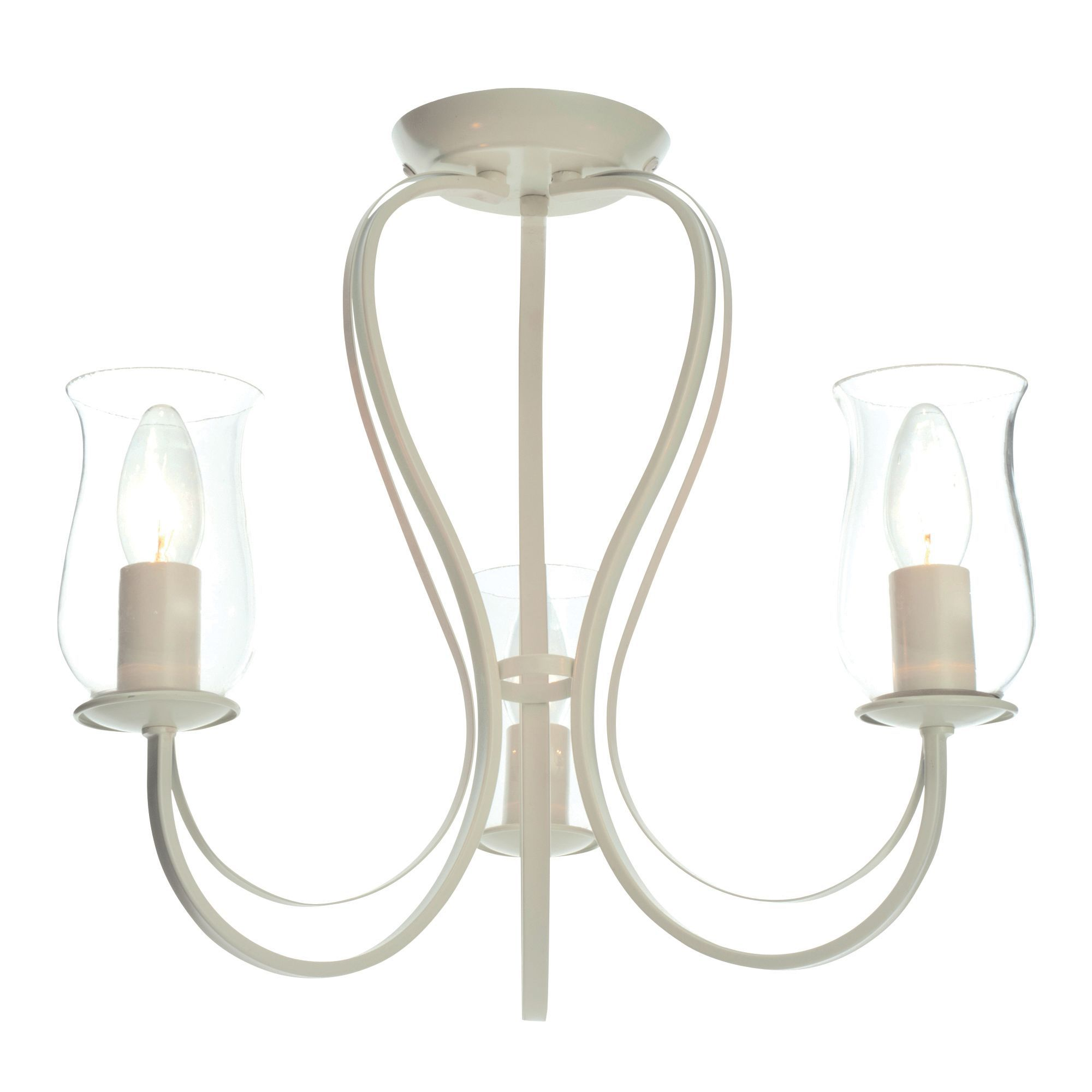 Chateau Cream Porcelain Effect 3 Lamp Ceiling Light | Departments ...