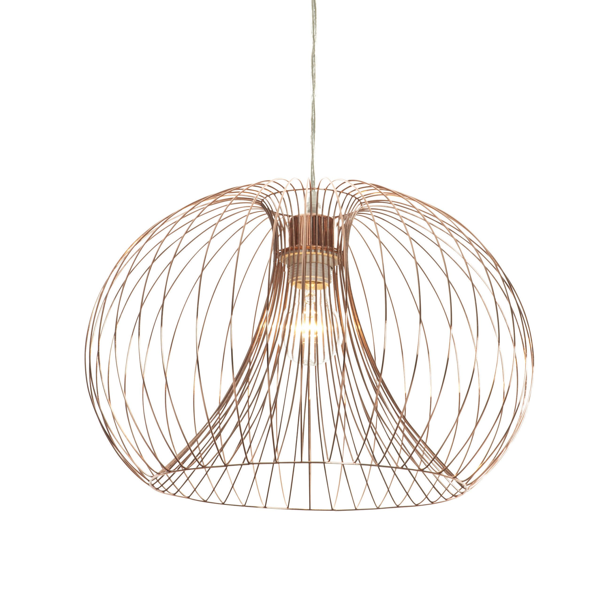 Pendant Light Bulb Wiring : Marceau wire grey pendant ceiling light departments