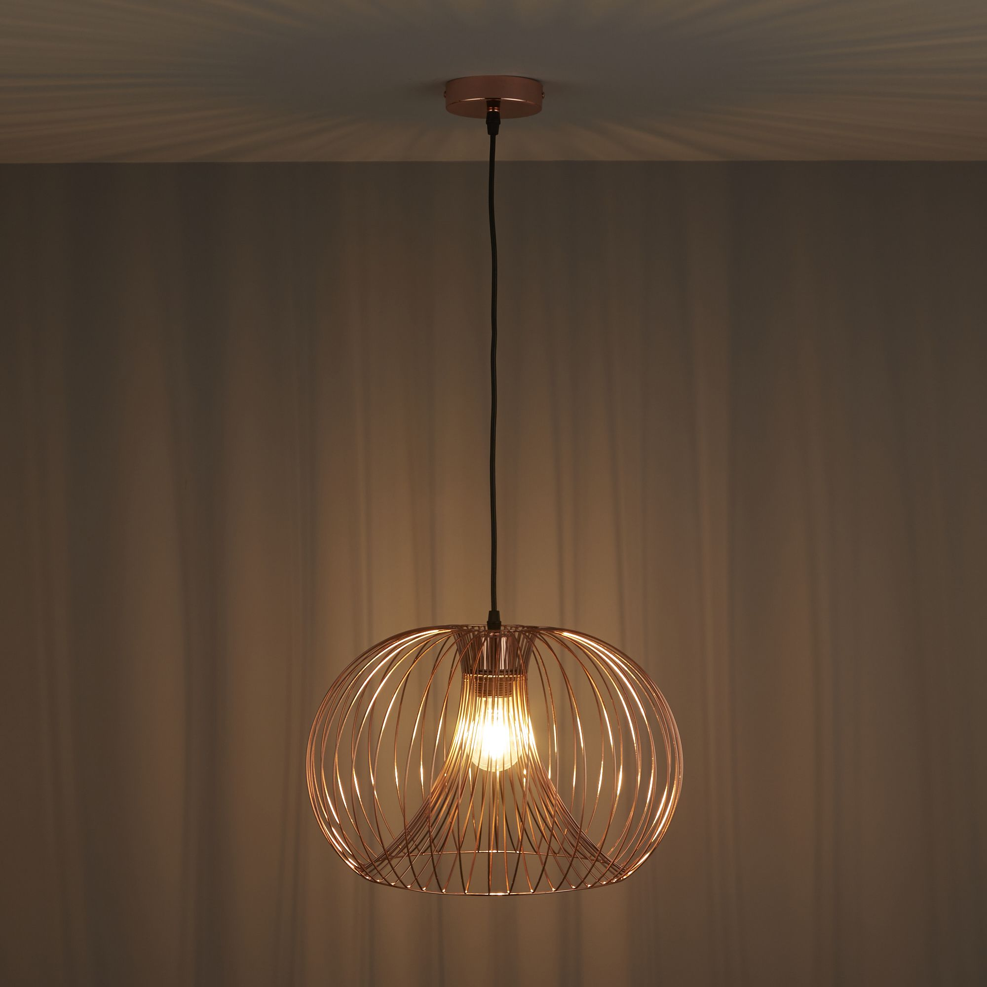 Diy at bq jonas wire copper pendant ceiling light keyboard keysfo Image collections