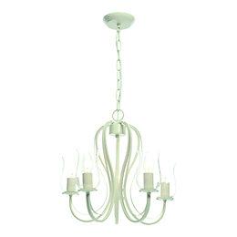 Chateau Cream Porcelain Effect 5 Lamp Pendant Ceiling
