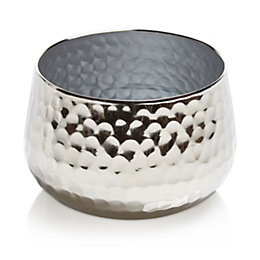 Colours Nickel Effect Hammered Metal Votive, Small