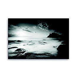 Silver Shores Black & White Canvas Art (W)160cm