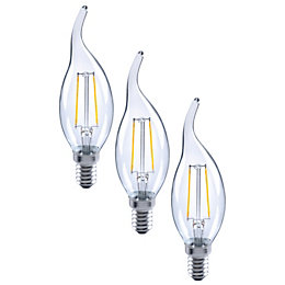 Diall E14 2W LED Filament Candle Bent Tip