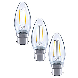 Diall B22 2W LED Filament Candle Light Bulb,