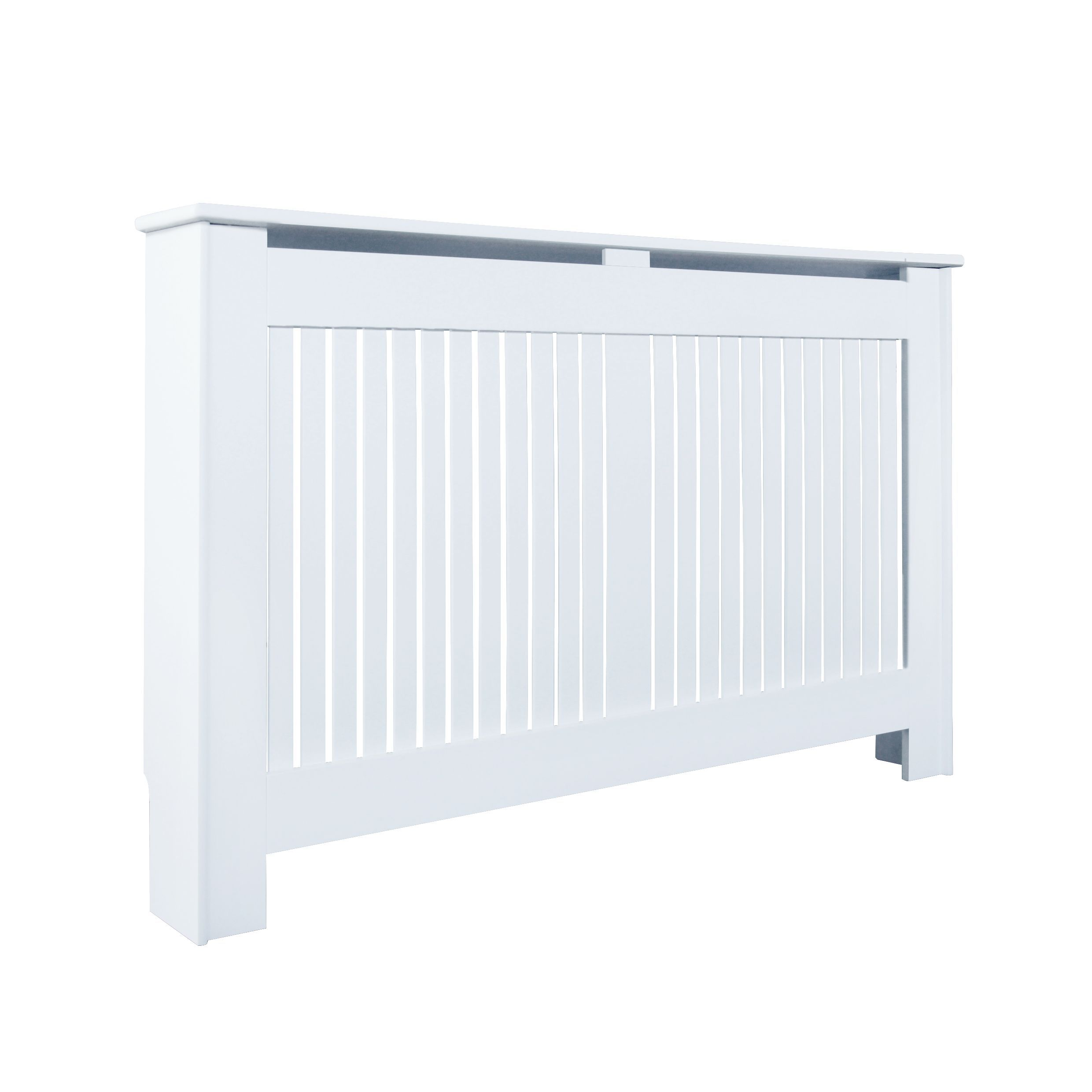 Kensington Large White Painted Radiator Cover | Departments | DIY at B&Q