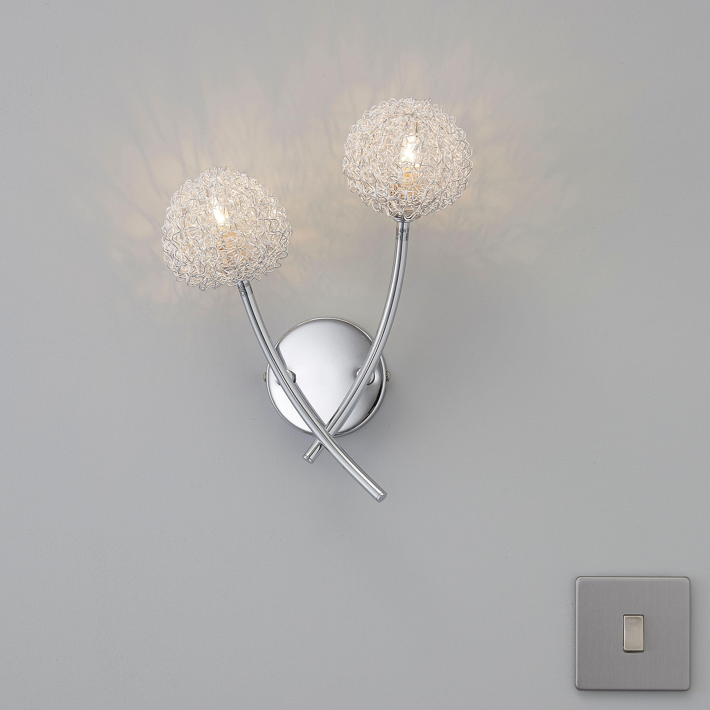 Pallas Chrome Effect Wall Light