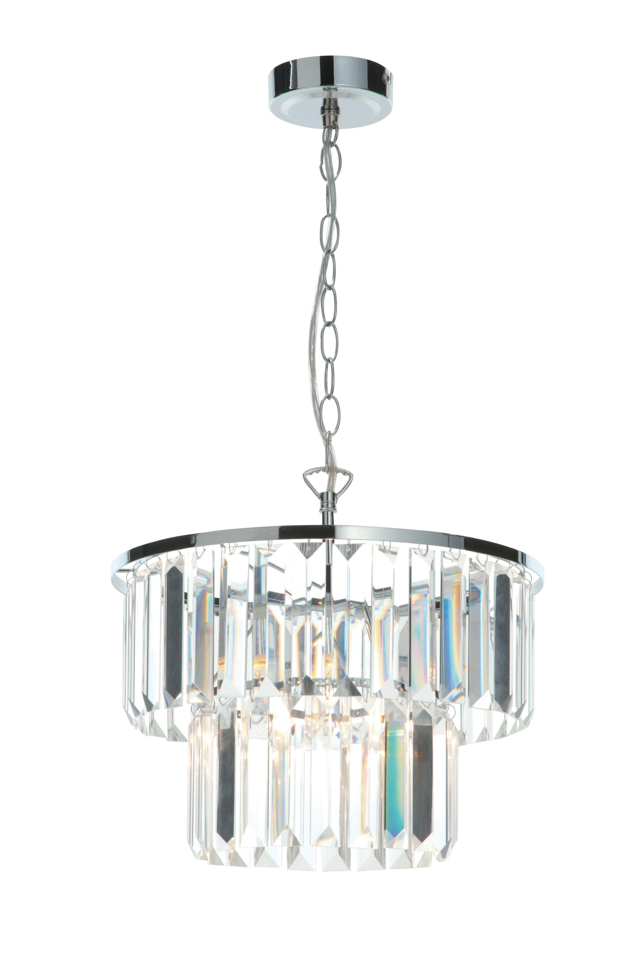 Beaufort Cut Glass Clear Pendant Ceiling Light