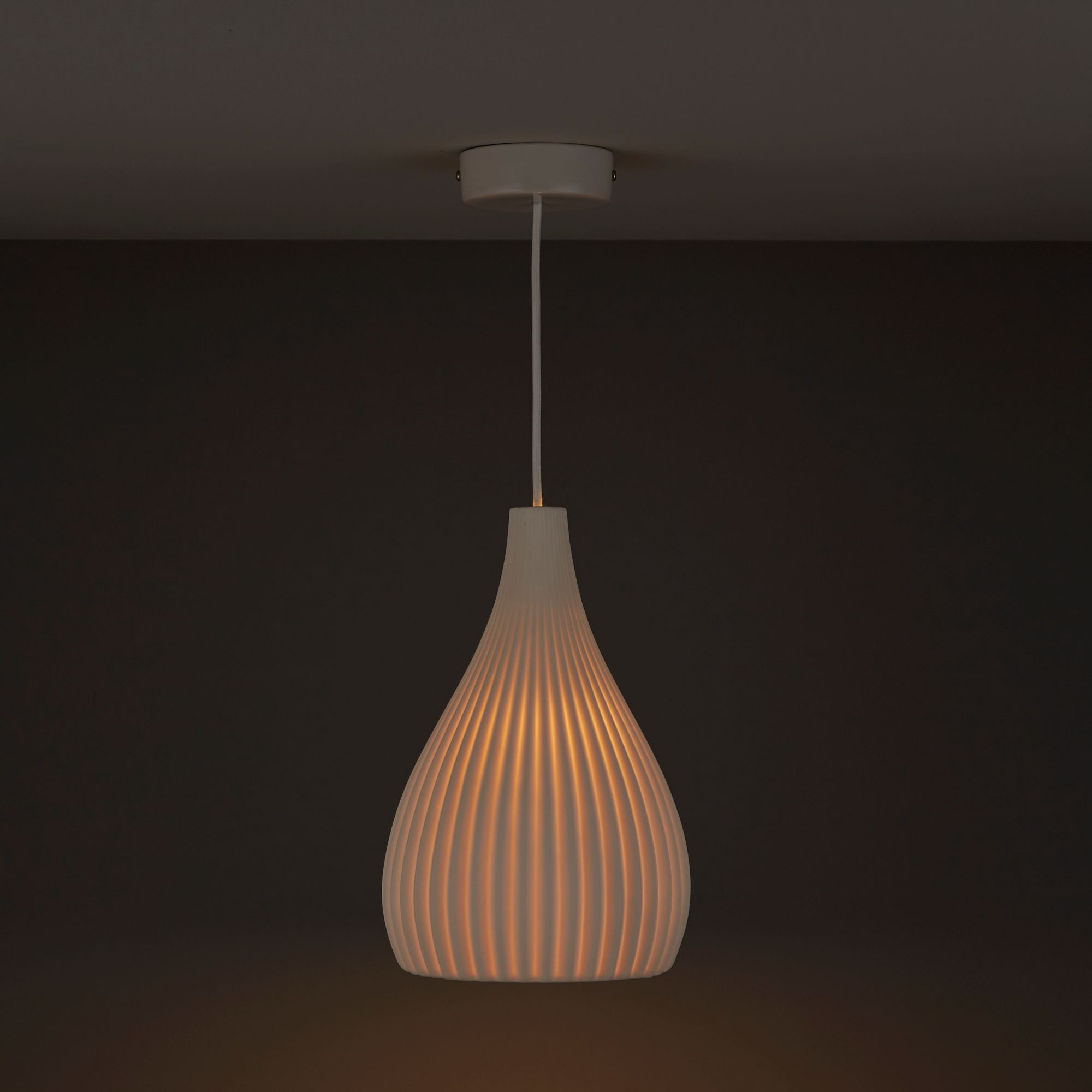Asinara White Matt Pendant Ceiling Light