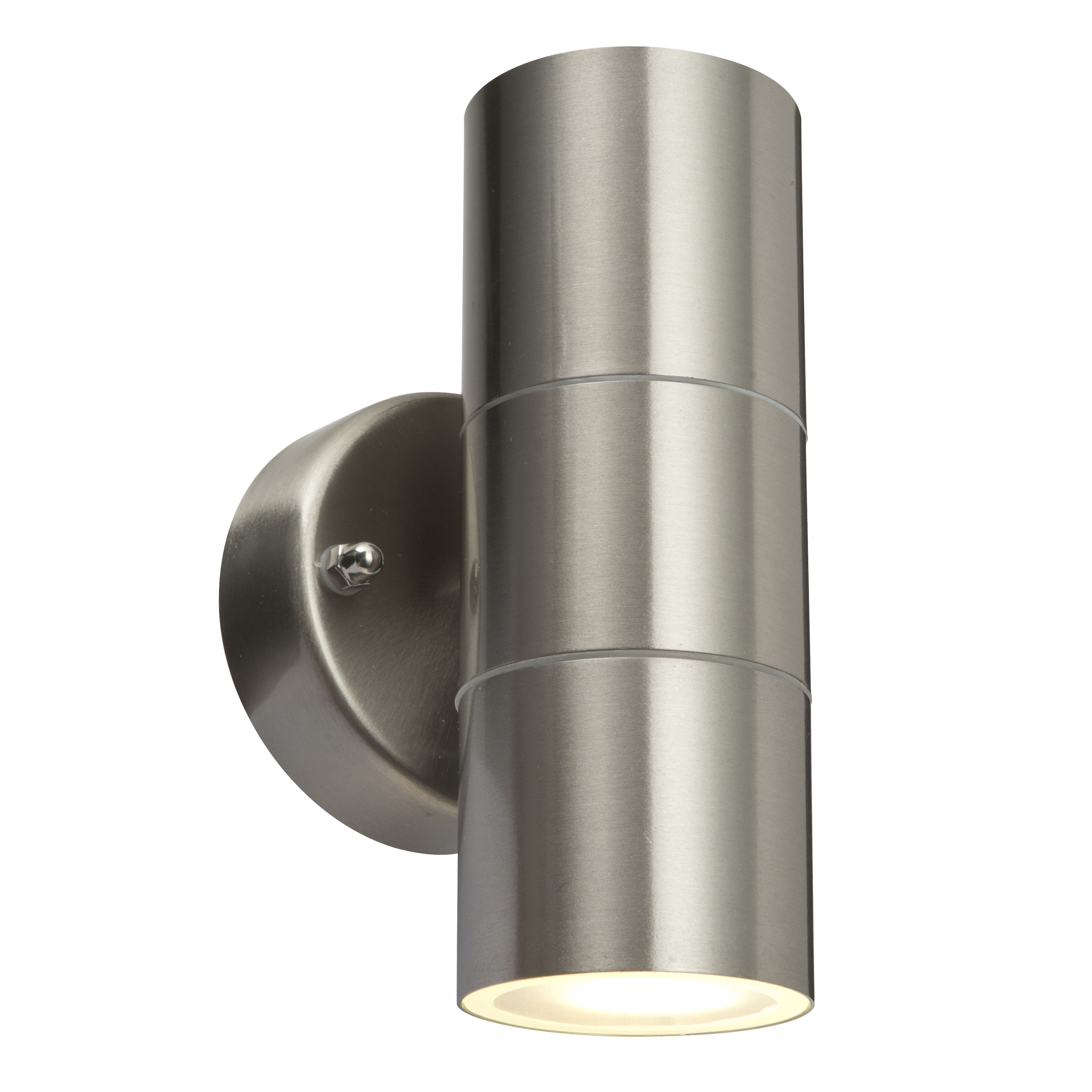 External Wall Lights Up And Down : Blooma Nomos 6W Mains Powered Wall Light with PIR Departments DIY at B&Q