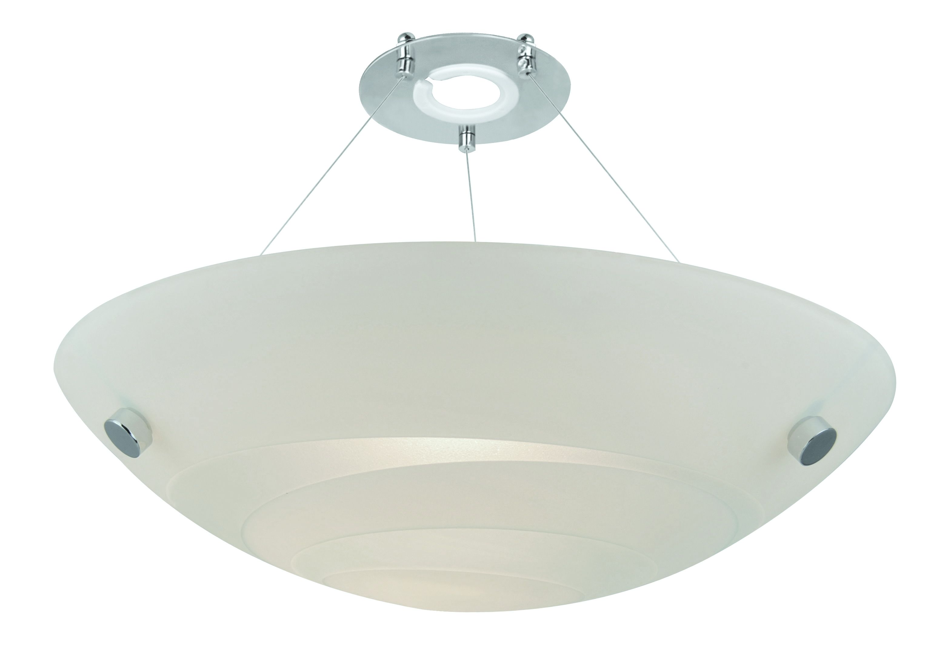 Colours Alta White Frosted Swirl Uplighter Light Shade