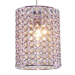 Colours Mokena Smokey Crystal Effect Beaded Light Shade