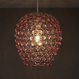 Colours Bartt Pink Crystal Effect Beaded Light Shade