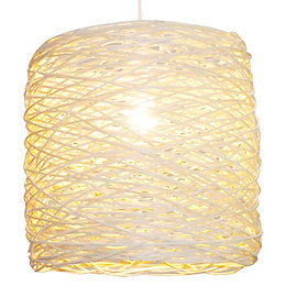 Colours Baroda Natural Rattan Light Shade (D)30cm