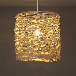Colours Baroda Natural Rattan Light Shade (D)300mm