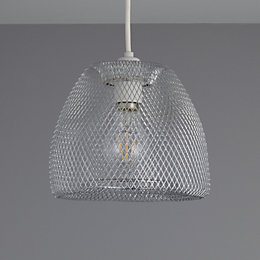 Colours Gatun Silver Chrome Effect Wire Light Shade