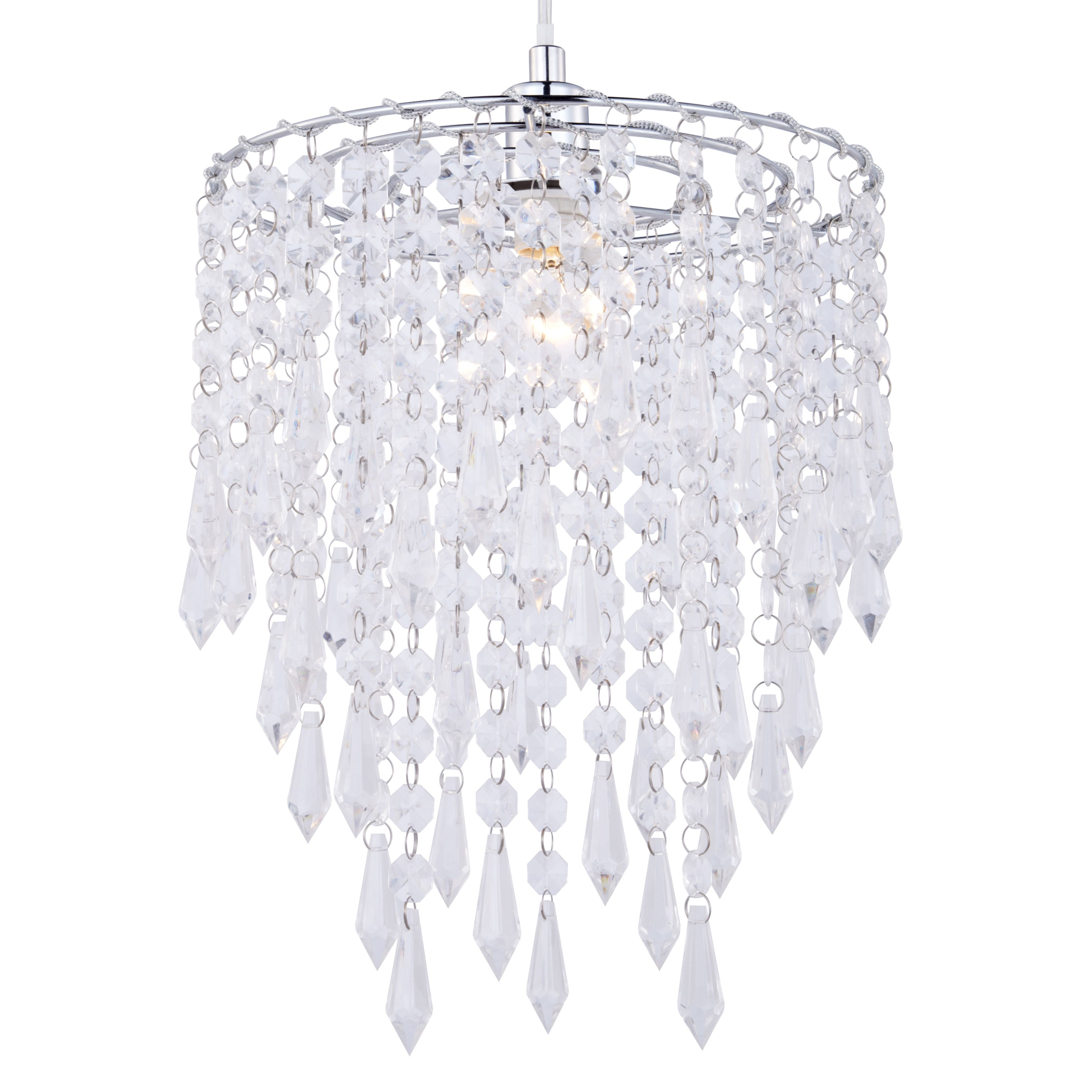 Colours Agassiz Clear Crystal Effect Beaded Pendant Light