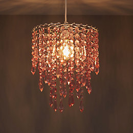 Colours Agassiz Pink Beaded Pendant Light Shade (D)250mm