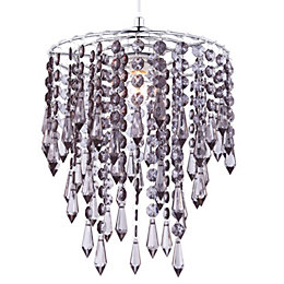 Colours Agassiz Smokey Beaded Pendant Light Shade (D)25cm