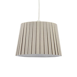 Colours Aubree Mushroom Box Pleat Light Shade (D)21cm
