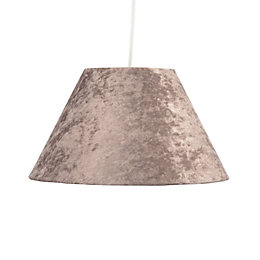 Colours Clain Brown Velvet Light Shade (D)31cm