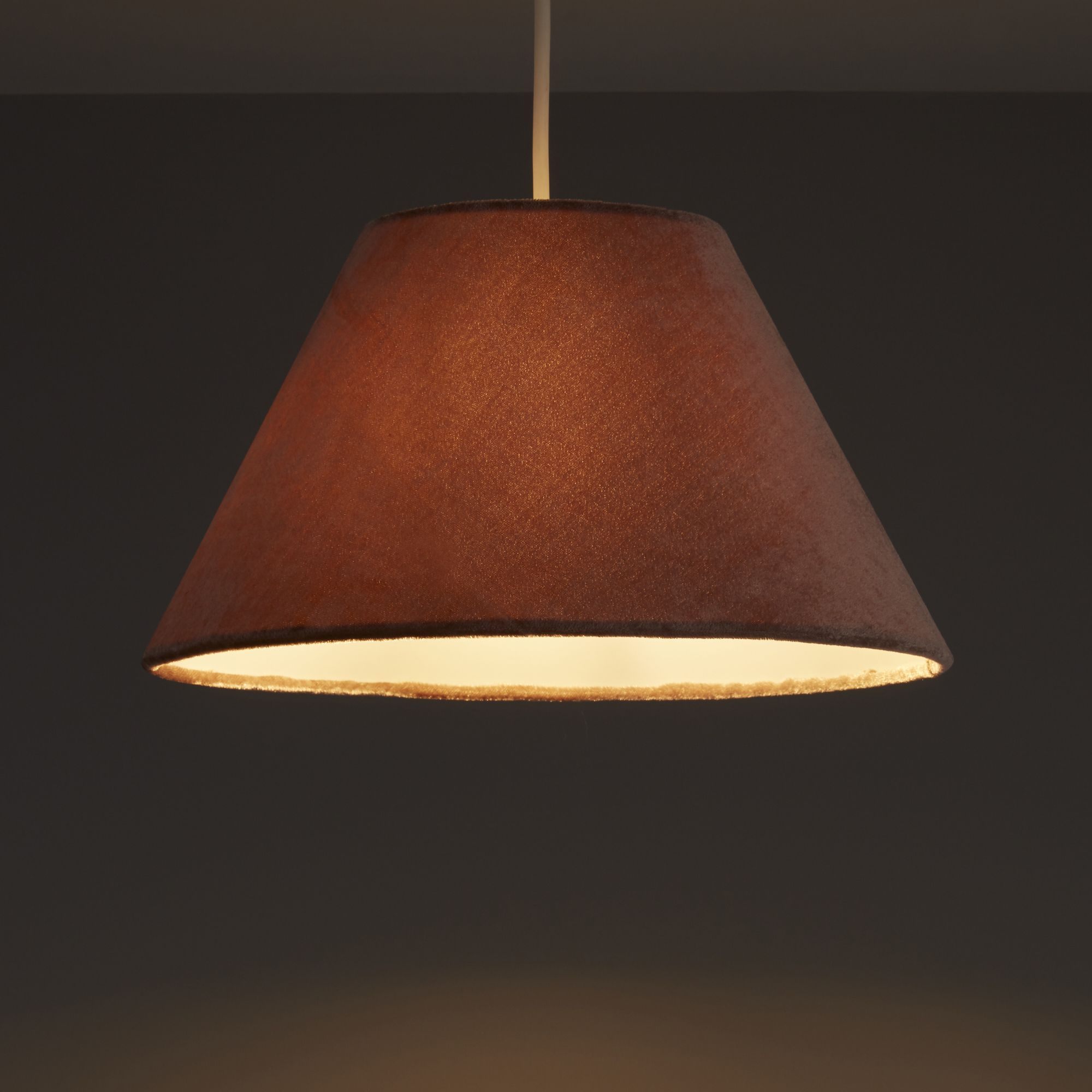 Diy at bq colours clain brown velvet light shade d310mm mozeypictures Image collections