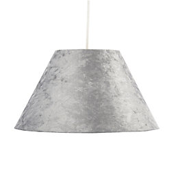 Colours Clain Silver Velvet Light Shade (D)31cm