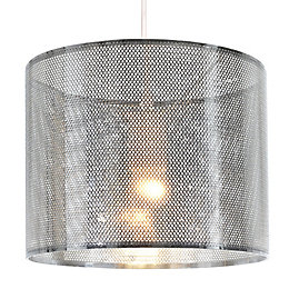 Colours Belina Silver Chrome Effect Cutout Light Shade