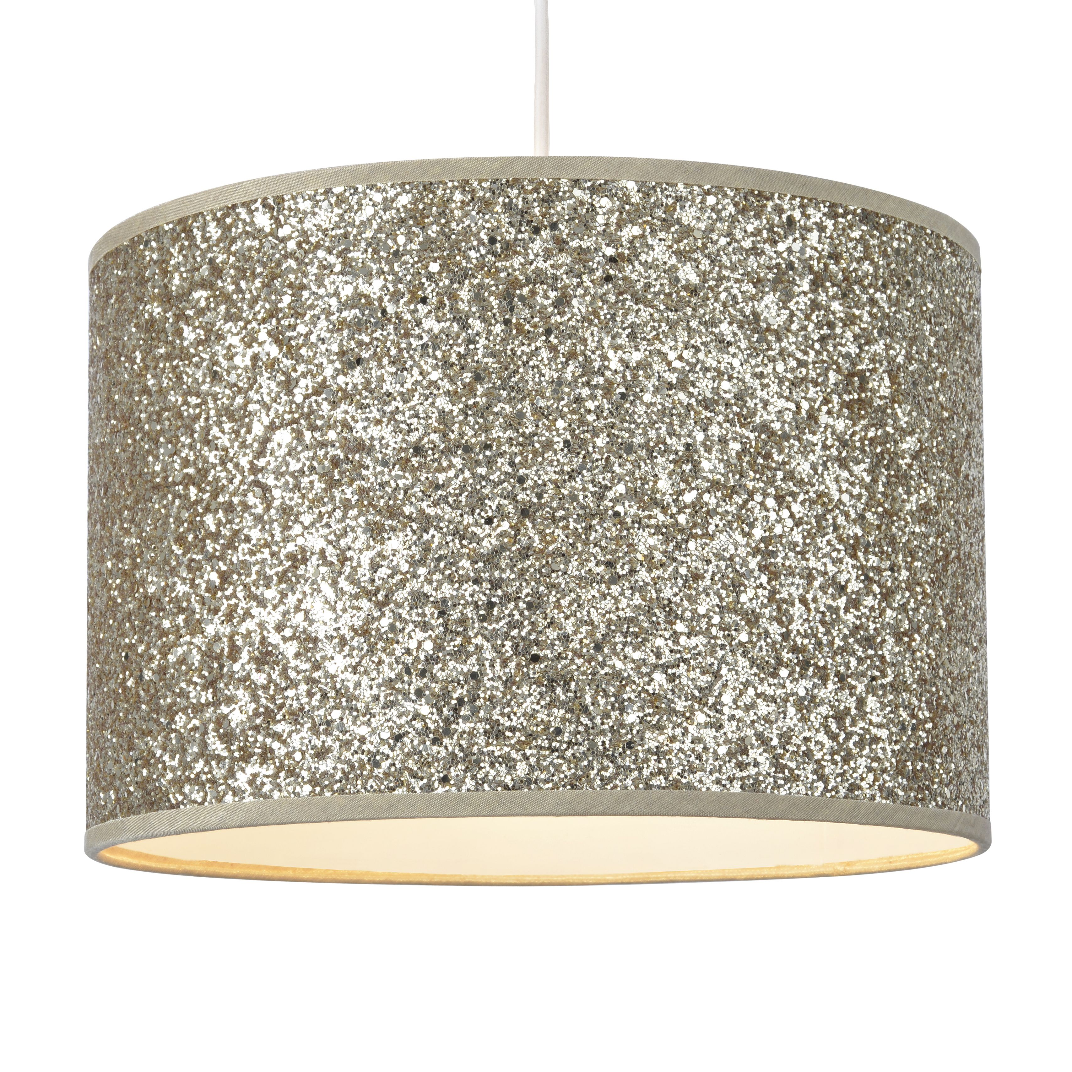 colours cirocha gold glitter lamp shade d 28cm. Black Bedroom Furniture Sets. Home Design Ideas