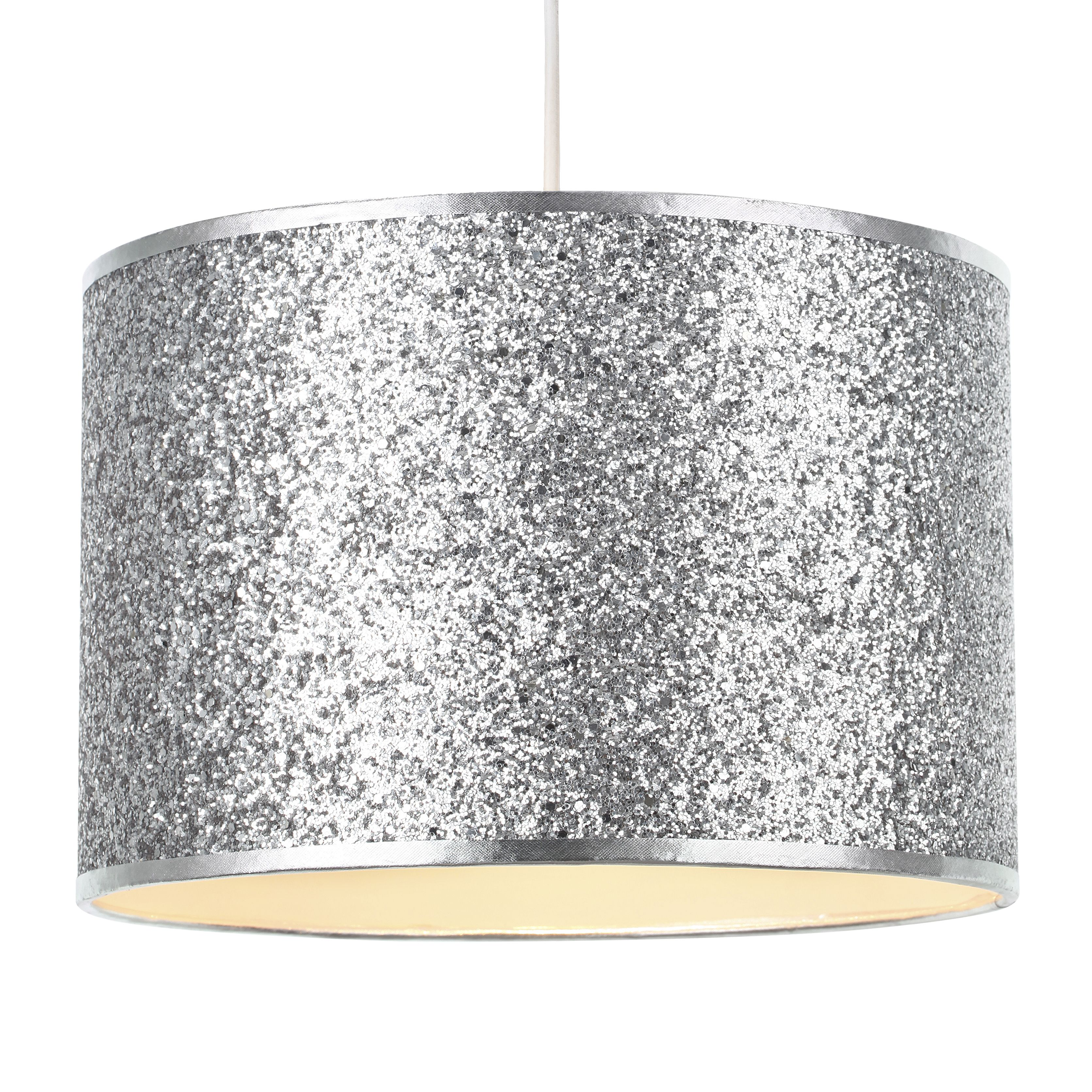 Colours Cirocha Silver Glitter Light Shade D 28cm